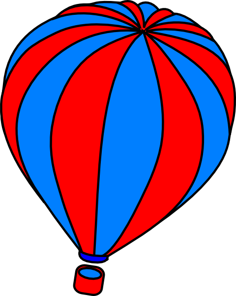 480x600 Hot Air Balloon Grey Clip Art
