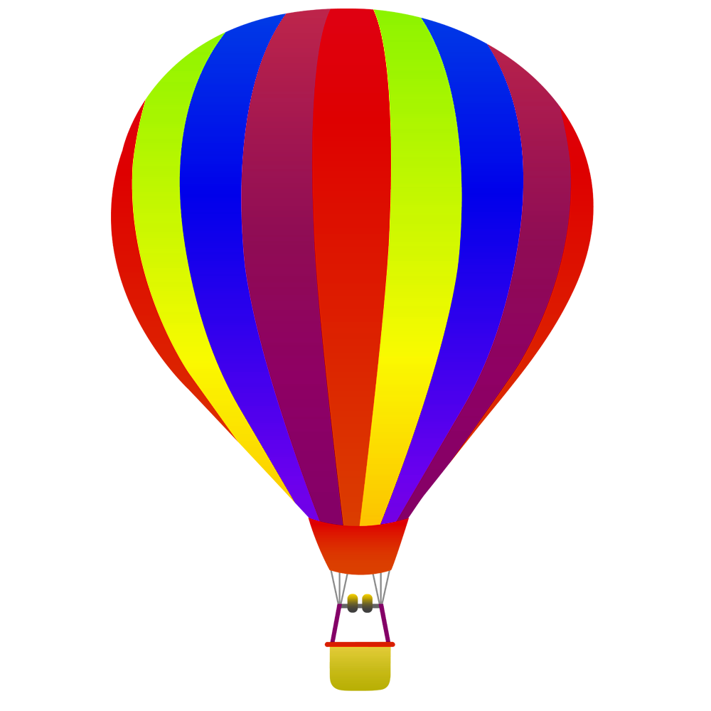 1000x1000 Hot air balloon no background