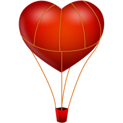 400x400 Vintage Hot Air Balloon Clipart transparent PNG