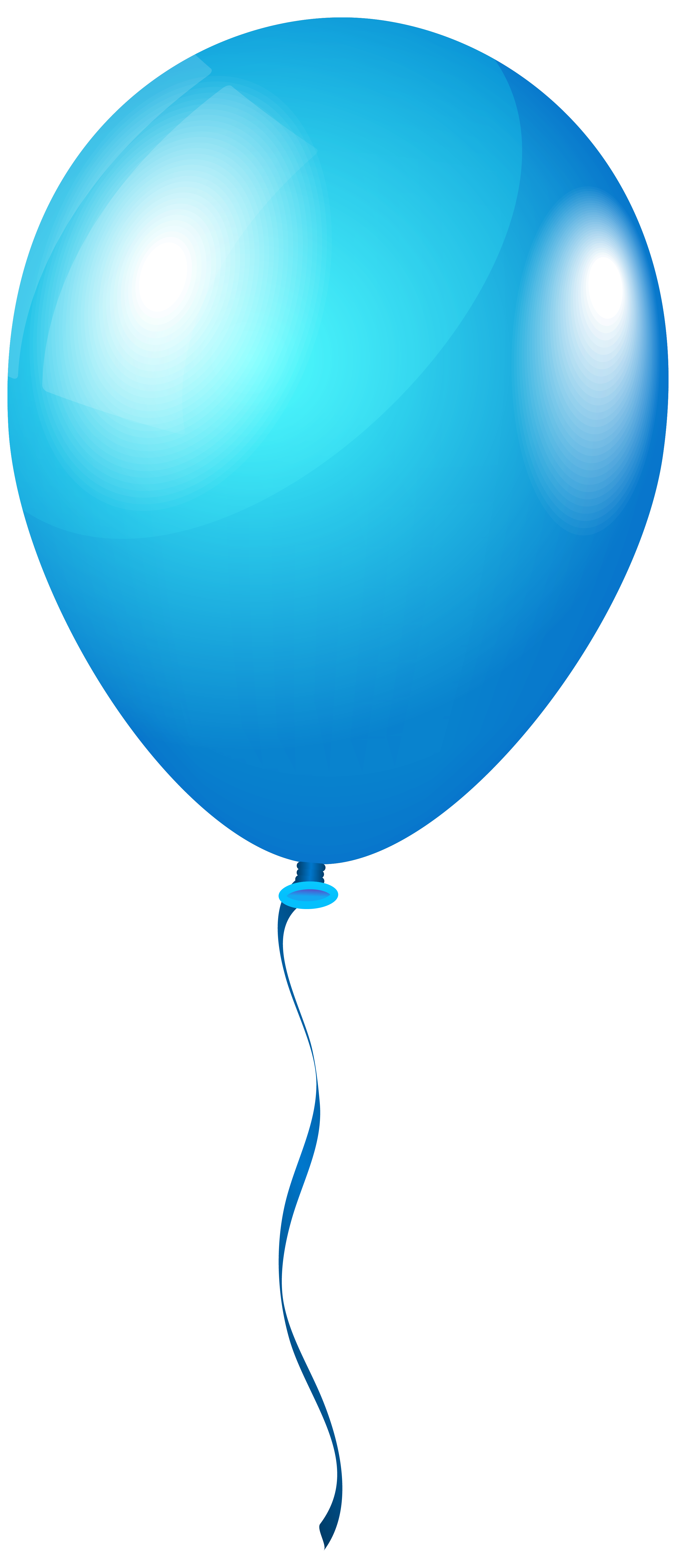 2716x6301 blue balloon clipart png