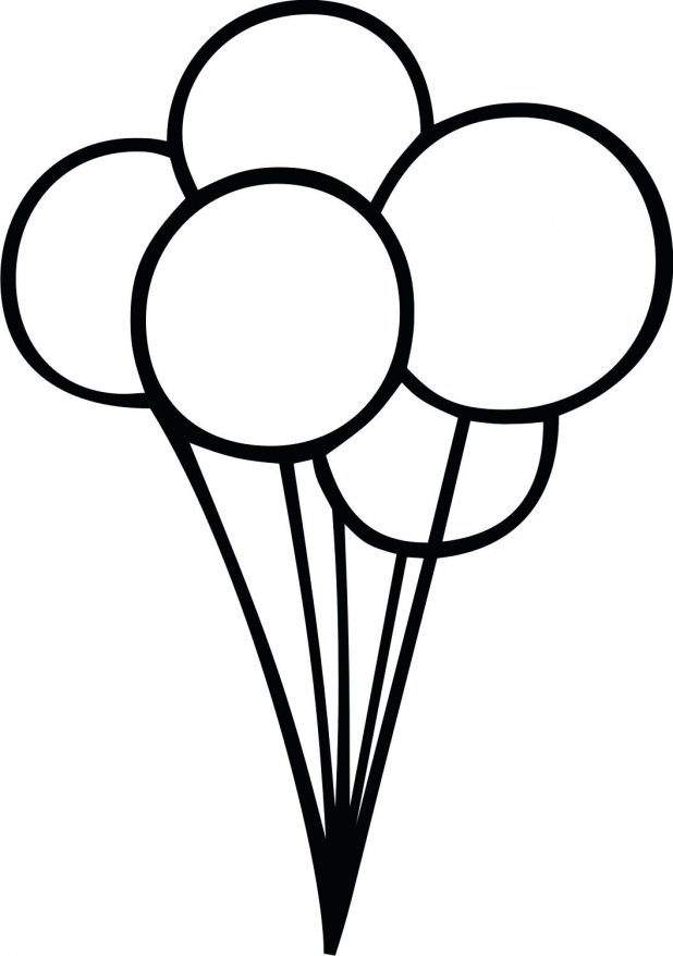 618x878 Balloon Hot Air Outline Clipart Drawing Template Hot Air Balloon