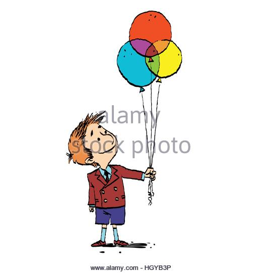 520x540 Colorful Drawing Happy Boy Balloon Stock Photos amp Colorful Drawing