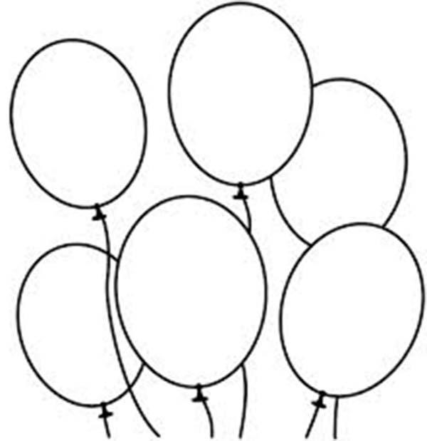 600x619 Drawn balloon line drawing