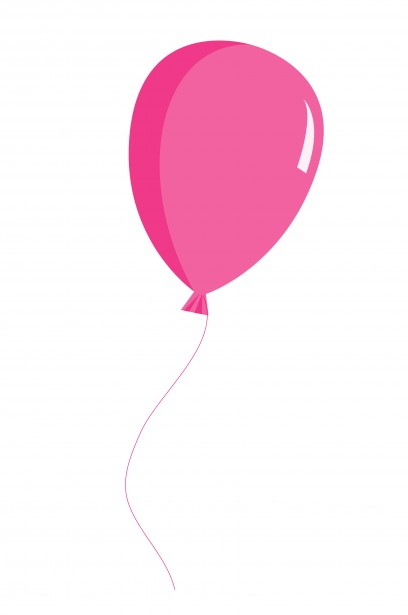 408x615 Balloon Pink Clipart Free Stock Photo