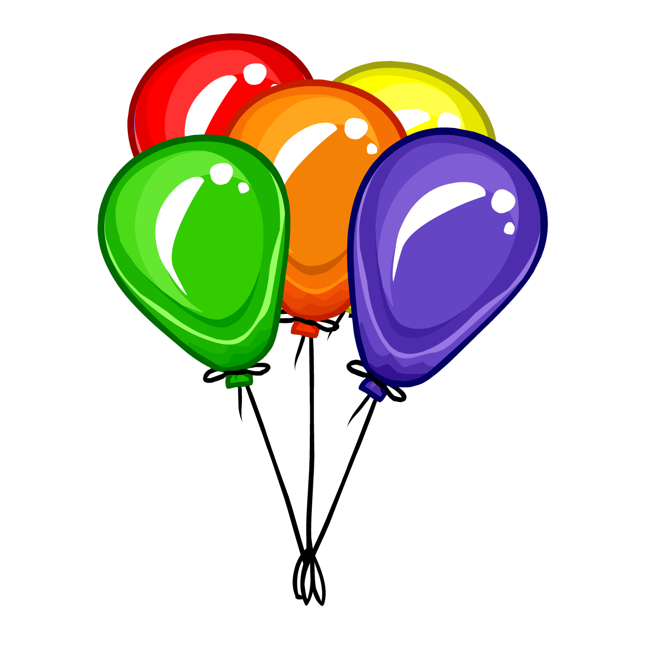 1291x1291 Balloon clipart balloon bunch