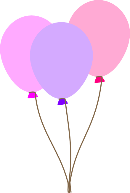 439x651 Balloon clipart free graphics oflorful party balloons 2