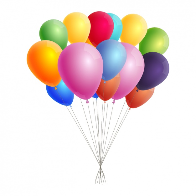 626x626 Colorful balloon clip art Vector Free Download