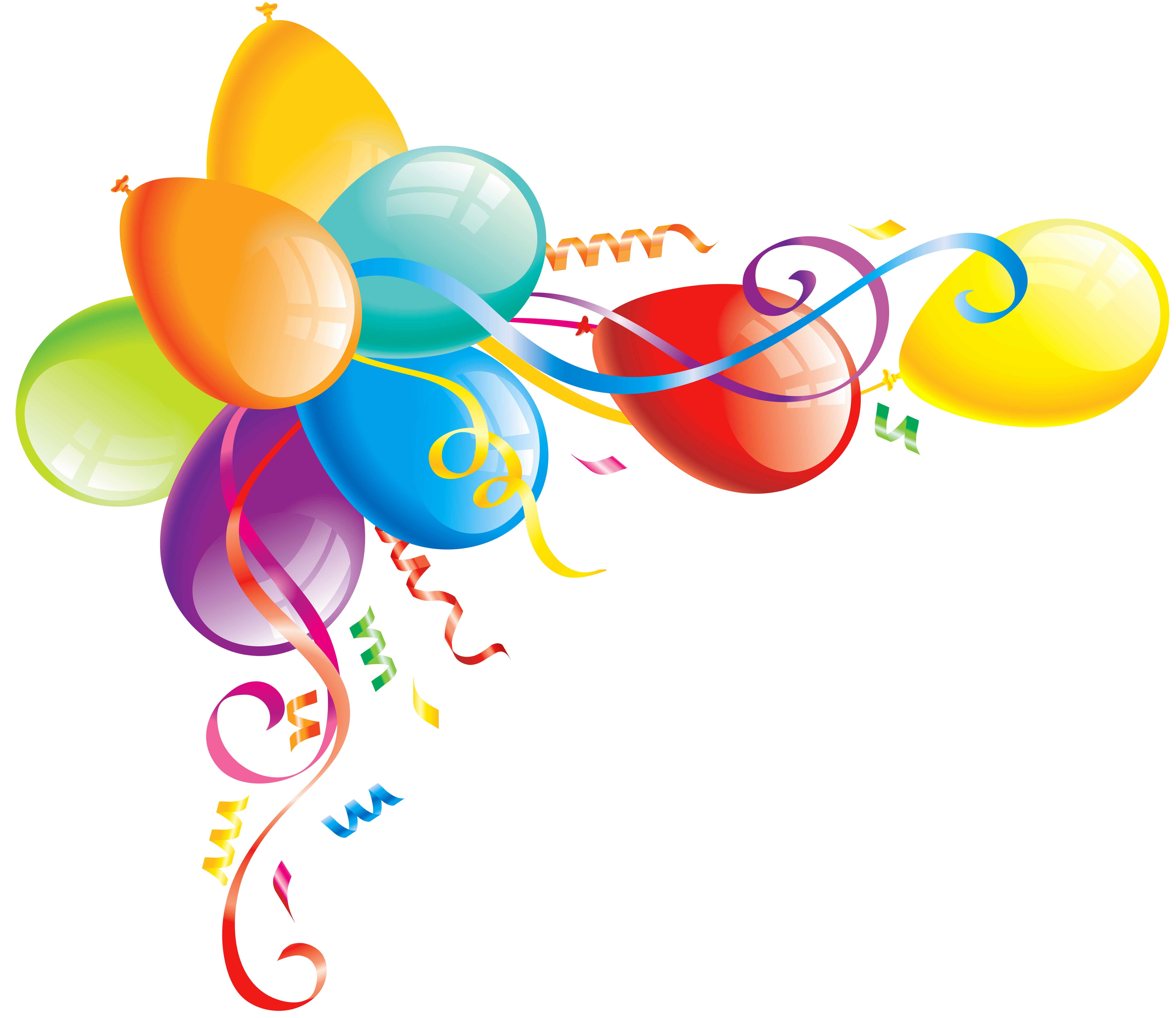 6200x5367 Free balloon clipart collection