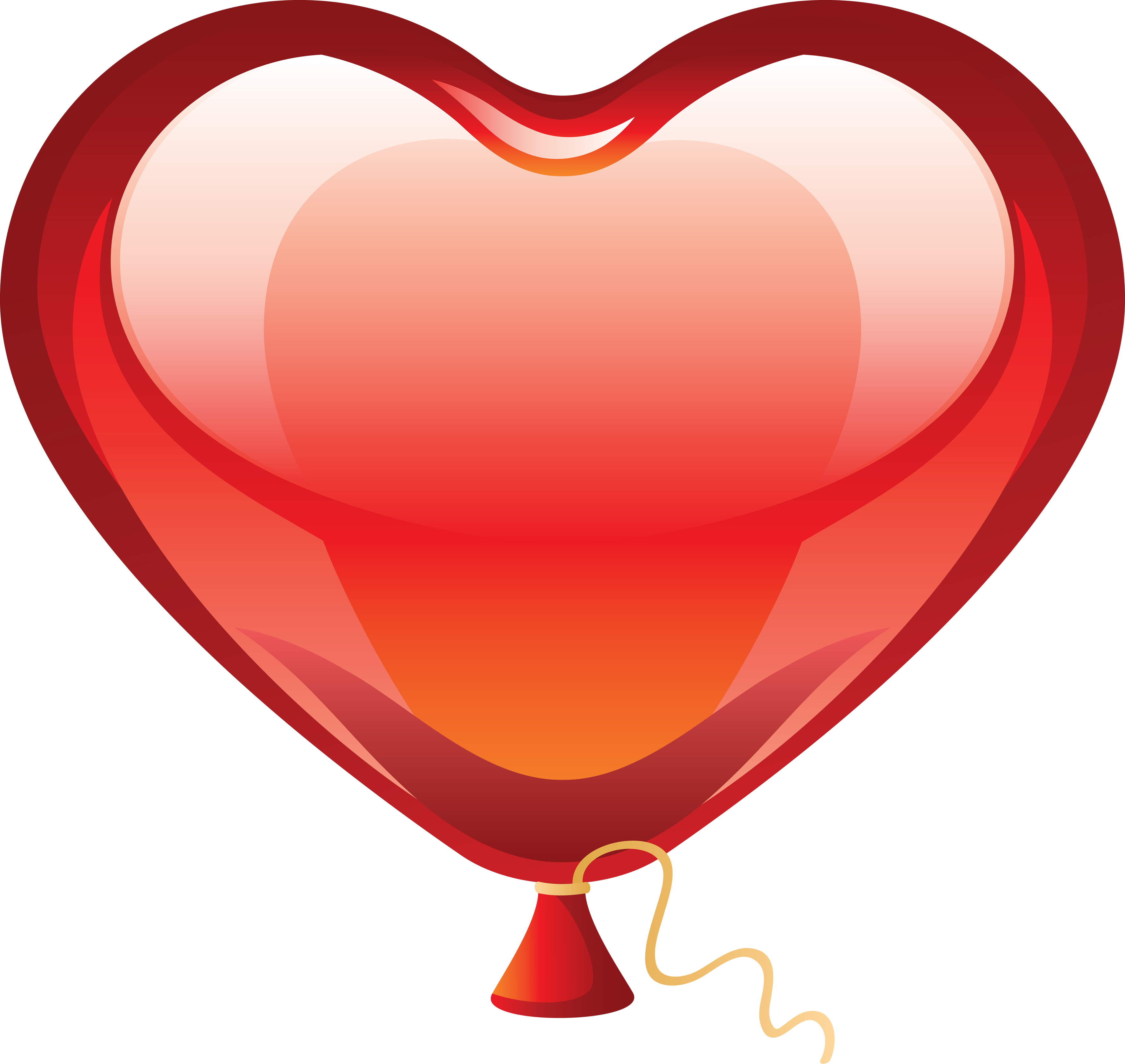 3544x3352 Heart balloon clipart