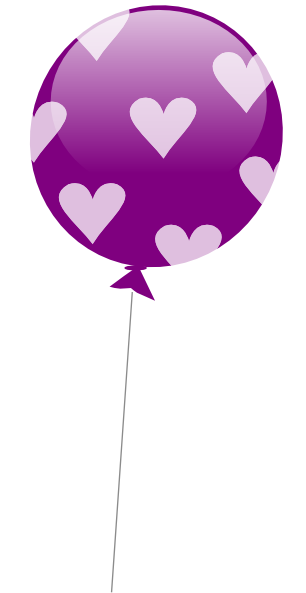 306x593 Balloon Clipart Purple Heart