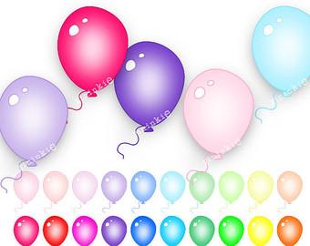 340x270 Balloons Clip Art Etsy