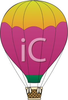 240x350 Cartoon Hot Air Balloon