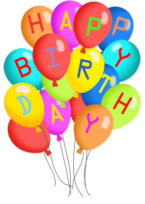 295x413 Happy Birthday Balloons Clip Art