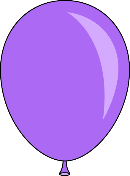 438x592 Light Purple Balloon Clip Art