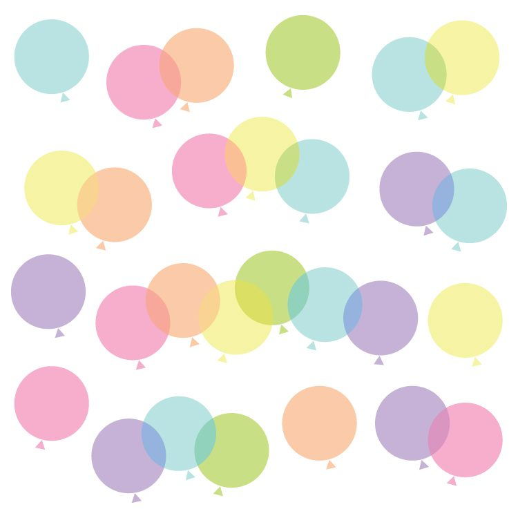 750x750 Rainbow Balloon Clip Art