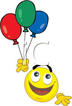 238x350 Smiley Holding A Bunch Of Balloons