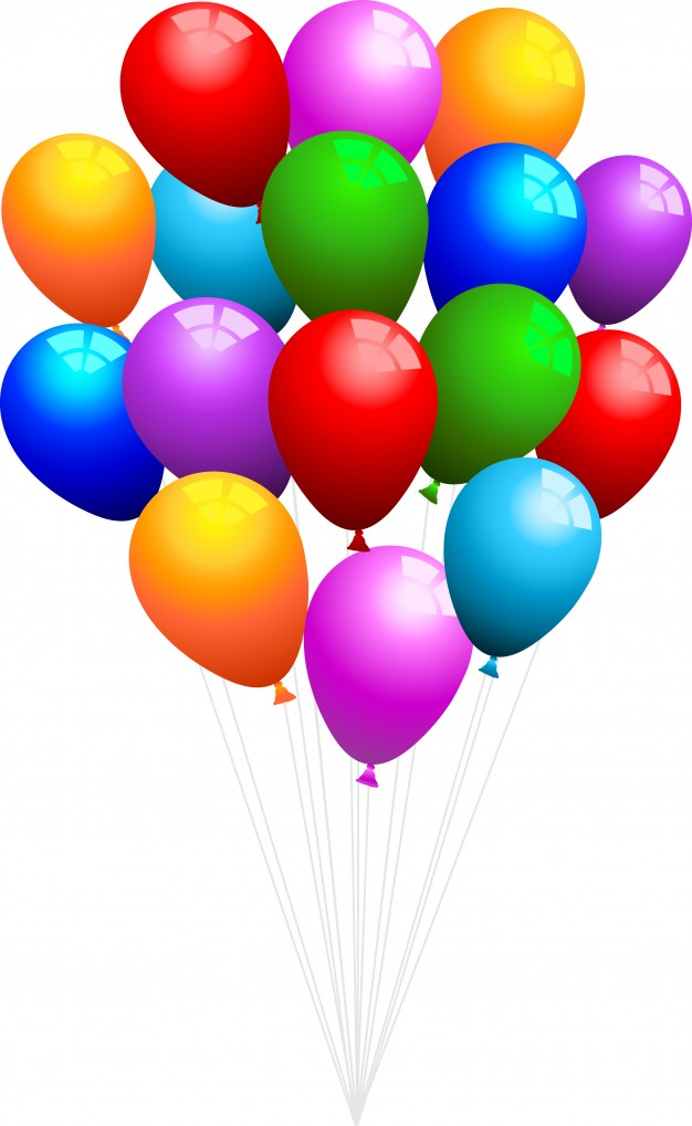 626x1019 Big bunch of balloons Vector Free Download
