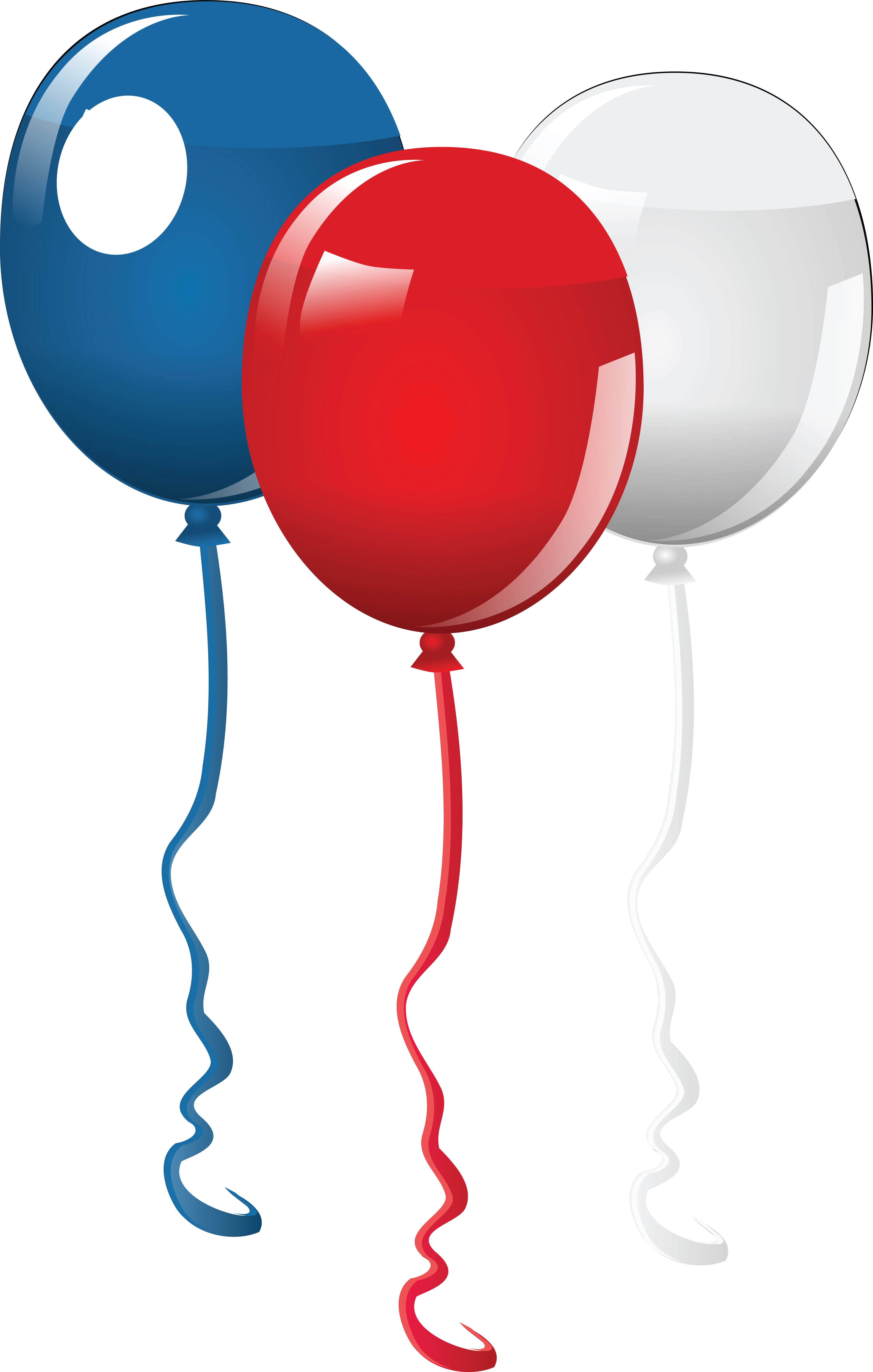 4000x6288 Clipart Of Fourth of July Party Balloons