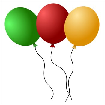 350x350 Free Balloons 01 Clipart