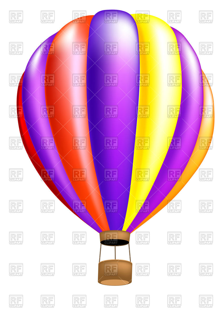 849x1200 Hot air balloon Royalty Free Vector Clip Art Image