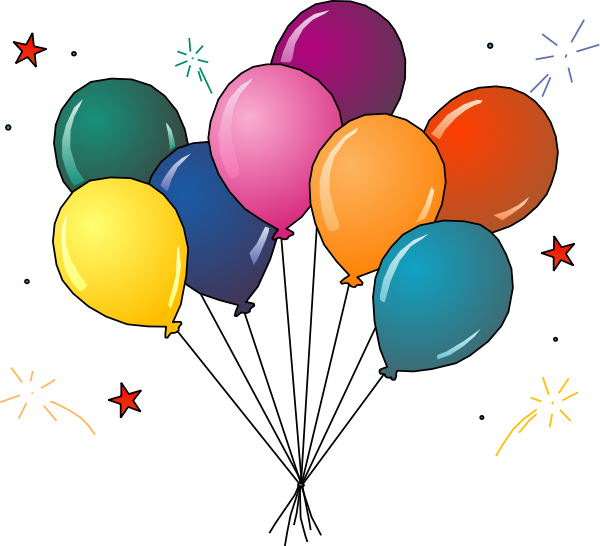 600x546 Party balloons clipart free images