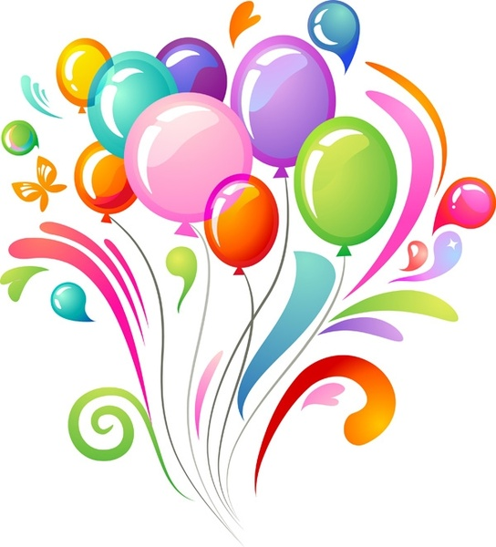 544x600 Vector multicolored balloons Free vector in Encapsulated