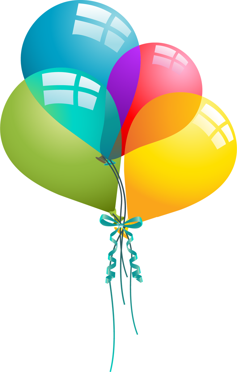 767x1200 Birthday Balloons Free Birthday Balloon Clip Art Clipart 8