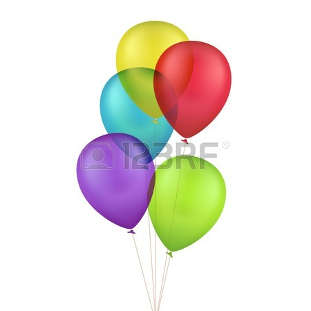 450x450 3,358 Multicolored Balloons Cliparts, Stock Vector And Royalty