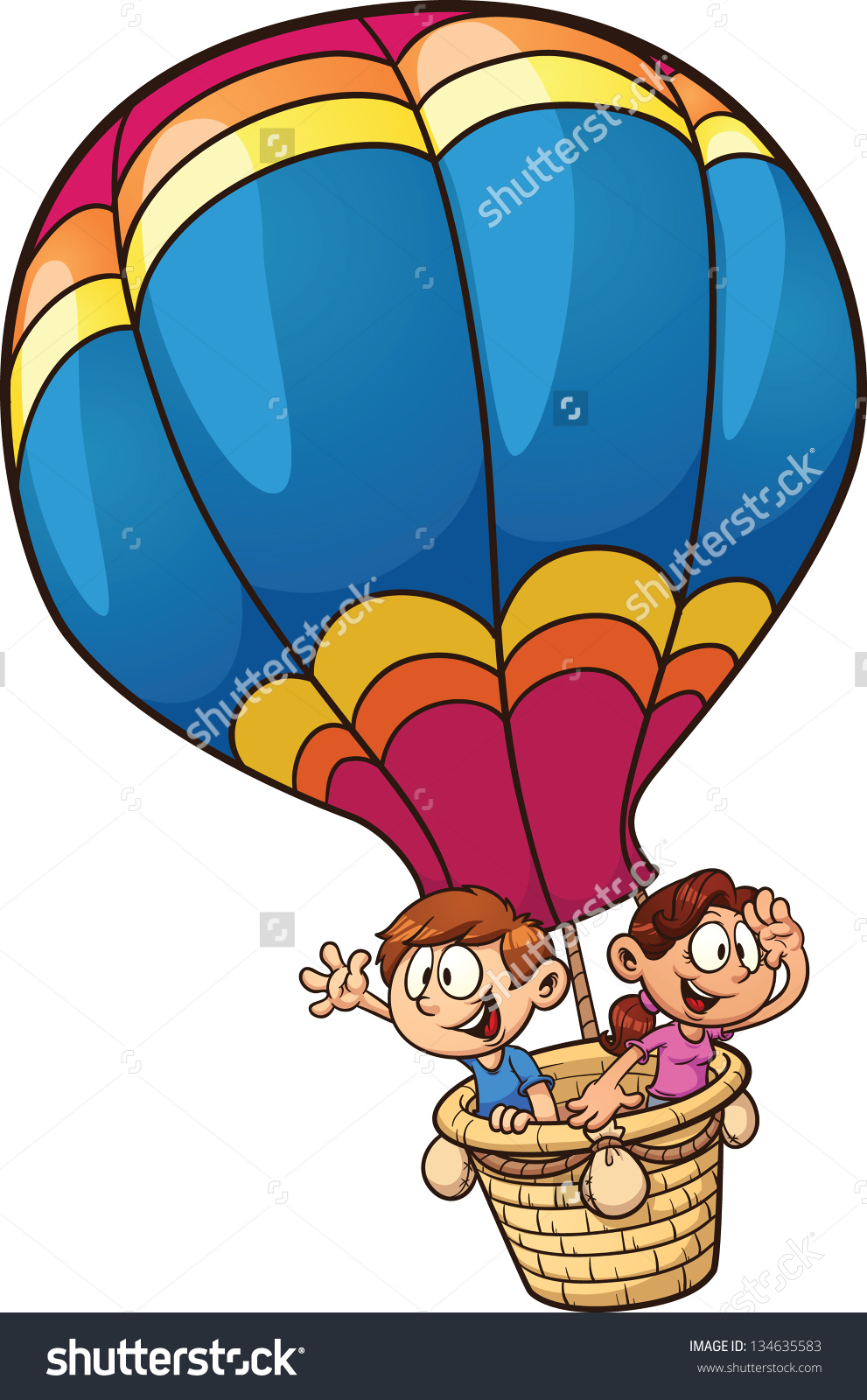 991x1600 Clipart Hot Air Balloon