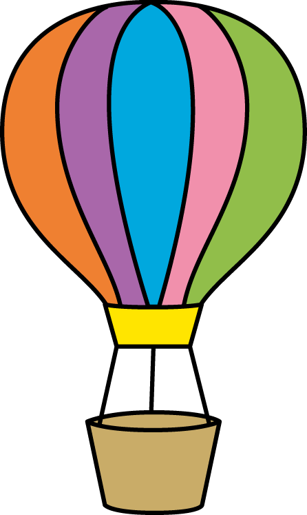 446x747 Colorful Hot Air Balloon Scrapbook