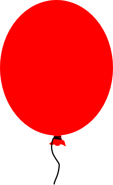 360x590 Free Clipart Of Black And Red Balloons
