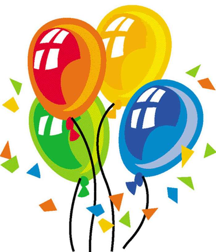 700x815 Happy Birthday Balloons Clipart