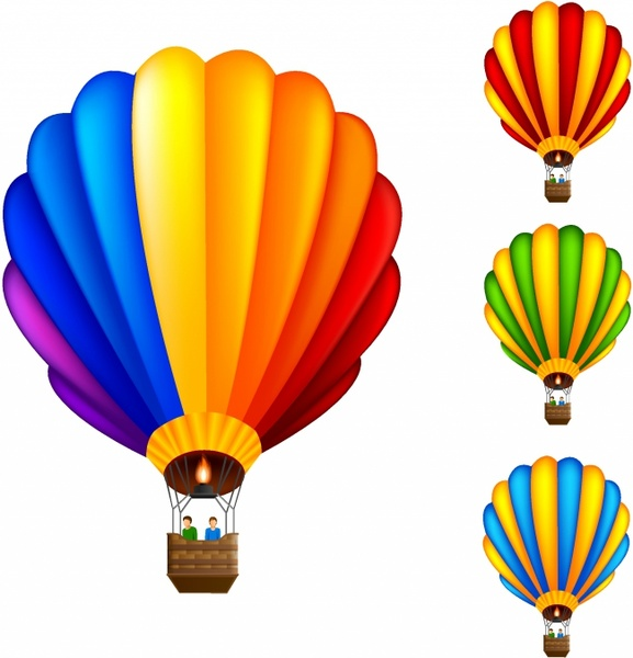 577x600 Hot Air Balloon Clipart Vector