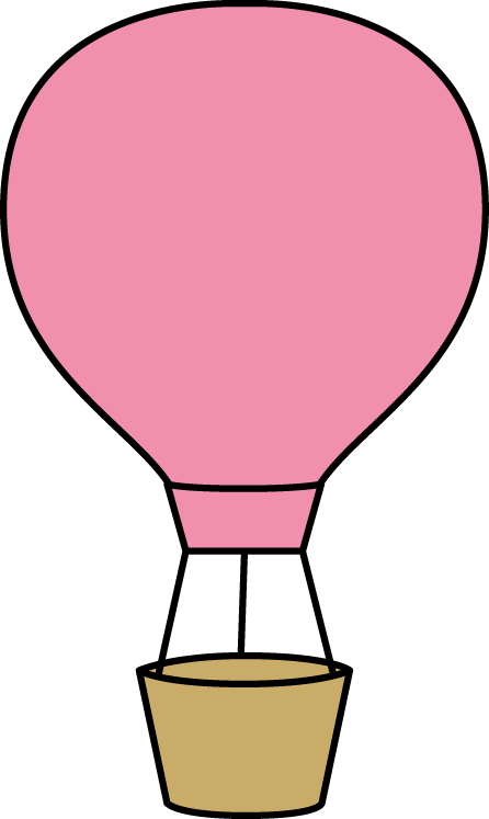 446x747 Pink Hot Air Balloon Clip Art