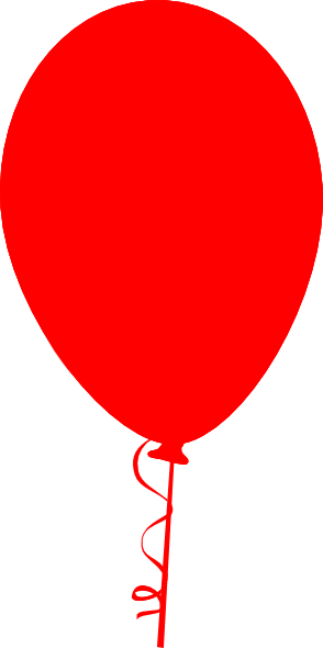 294x590 Red Balloon Clip Art