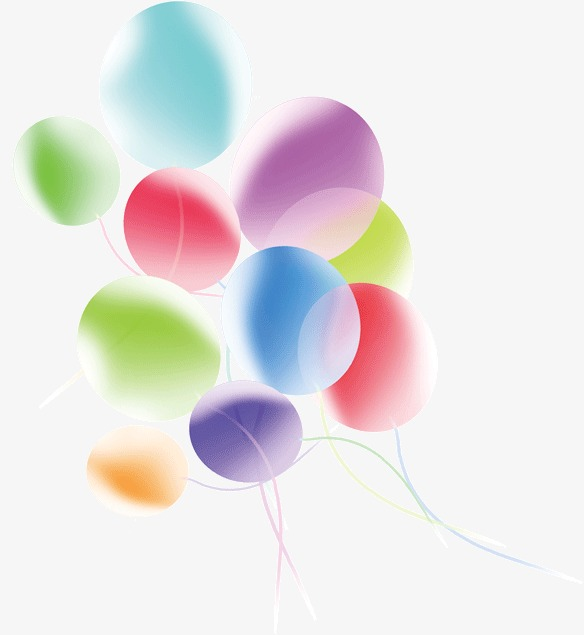 584x635 Transparent Colorful Balloons, Colorful, Transparent, Balloon Png