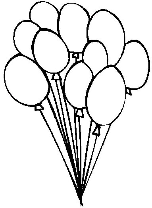 Balloons Black And White | Free download on ClipArtMag
