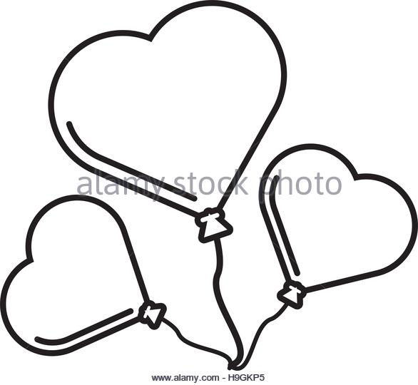 586x540 Holding Heart Balloon Black And White Stock Photos Amp Images