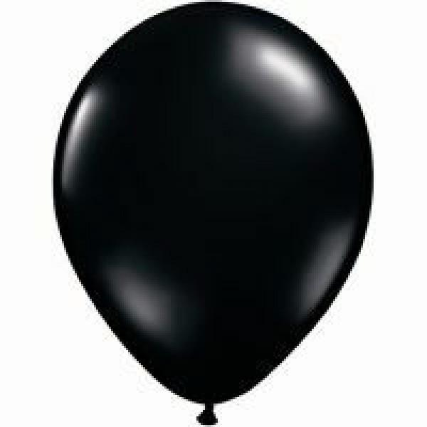 600x600 Plain Black Balloons