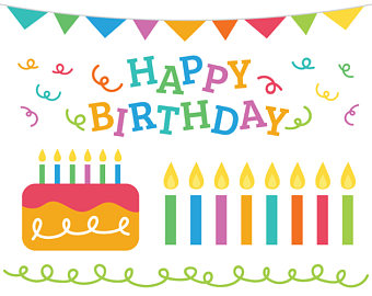 340x270 Birthday Cake Clip Art Etsy