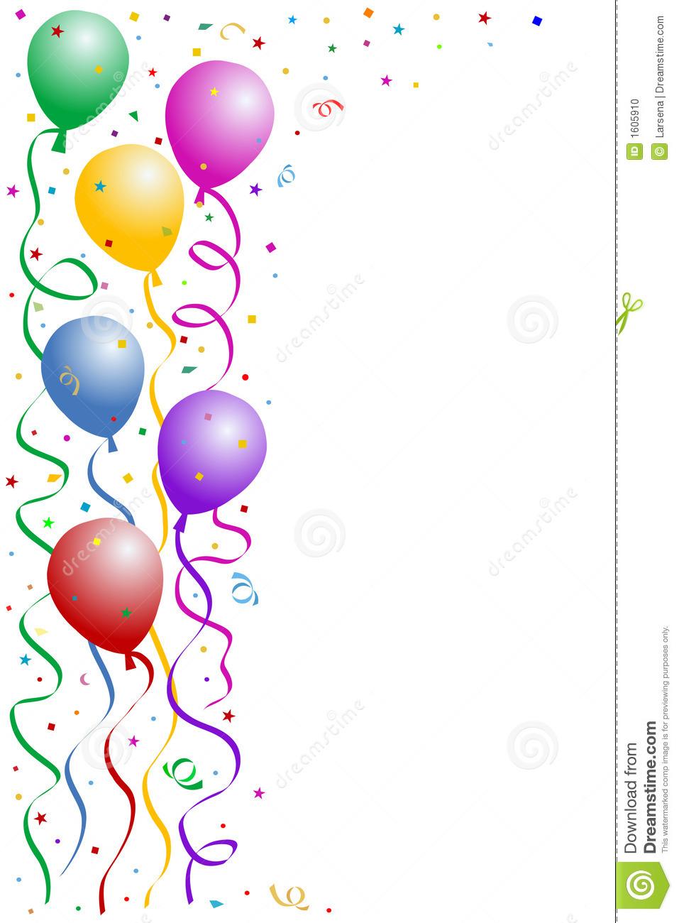 957x1300 Confetti Clipart Birthday Frames