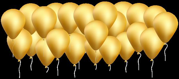 600x267 Gold Balloons Png Clip Art Imageu200b Gallery Yopriceville
