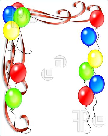 360x450 Birthday Balloons Border Clip Clipart Panda