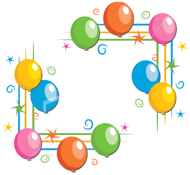 380x350 Balloon Border Clip Art