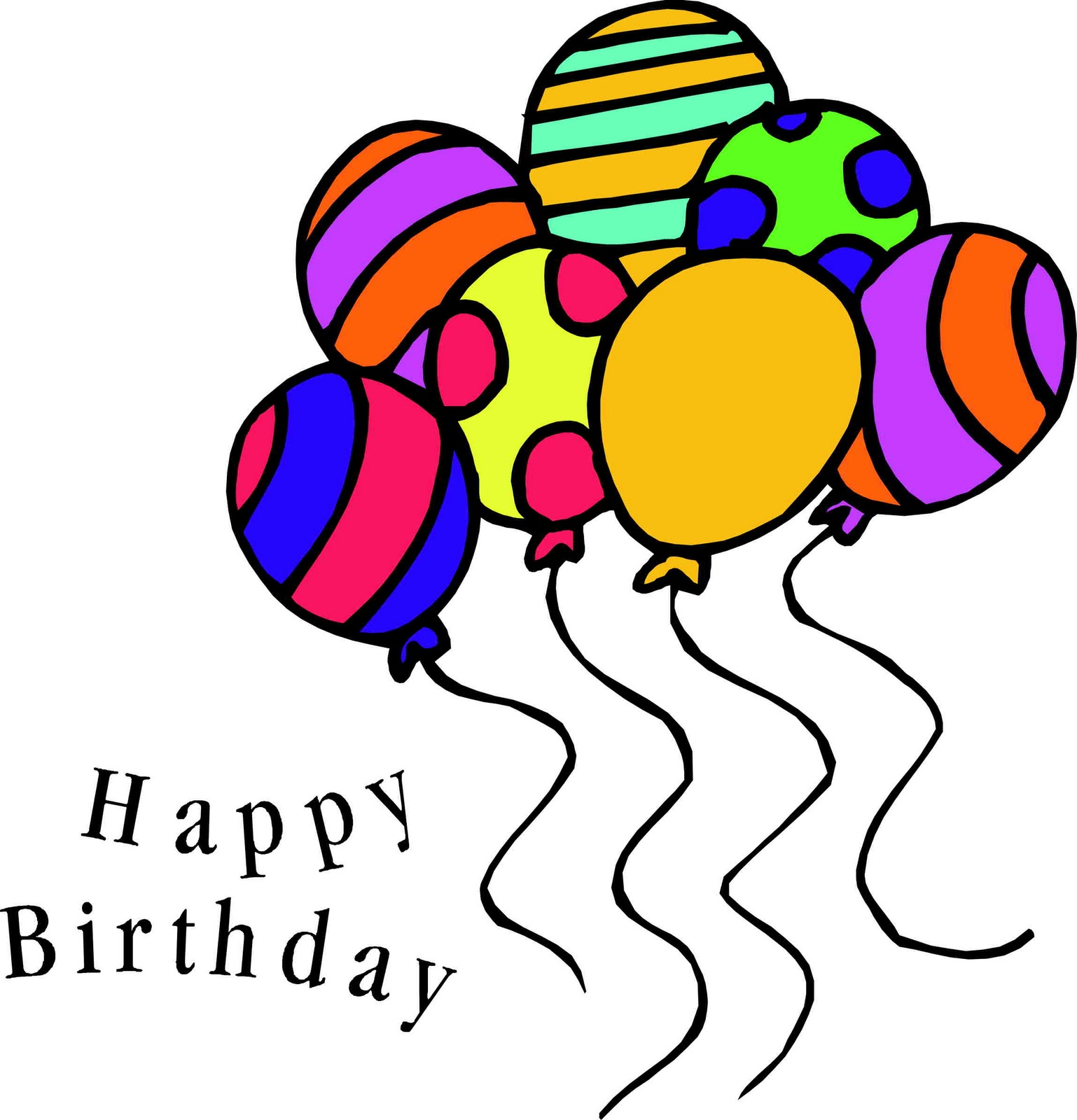 1538x1600 50th Birthday Balloons Clipart
