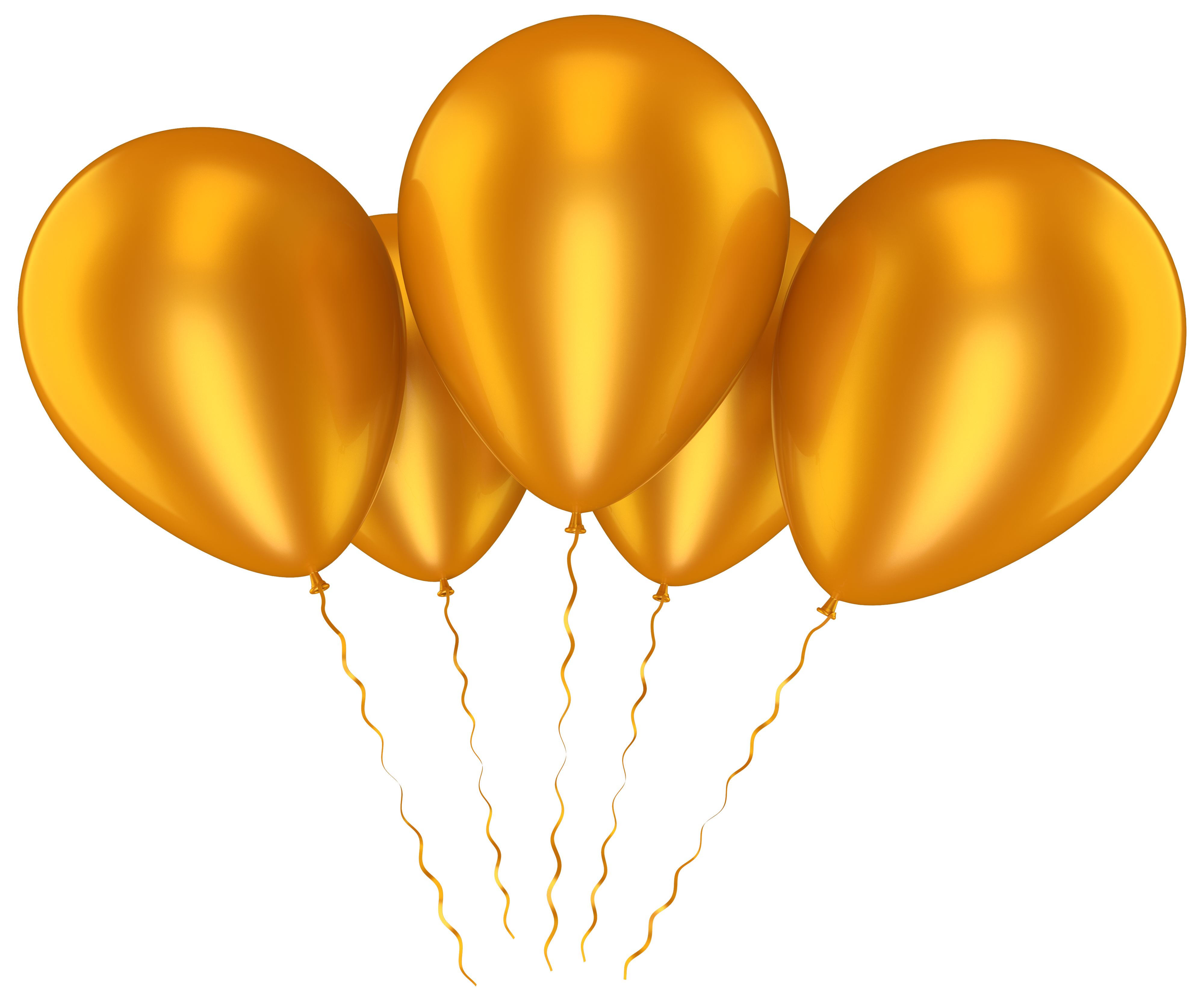 4000x3325 Gold Balloons Transparent Clip Art Pictureu200b Gallery Yopriceville
