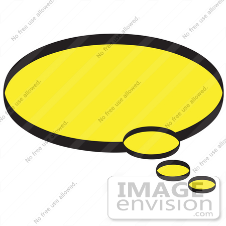 450x450 Royalty Free Cartoon Clip Art Of A Circle Shaped Thought Balloon