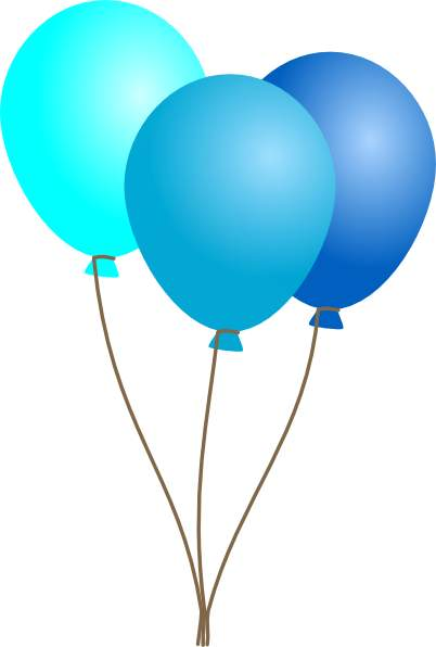 402x596 Balloon Blue Ballons Clipart