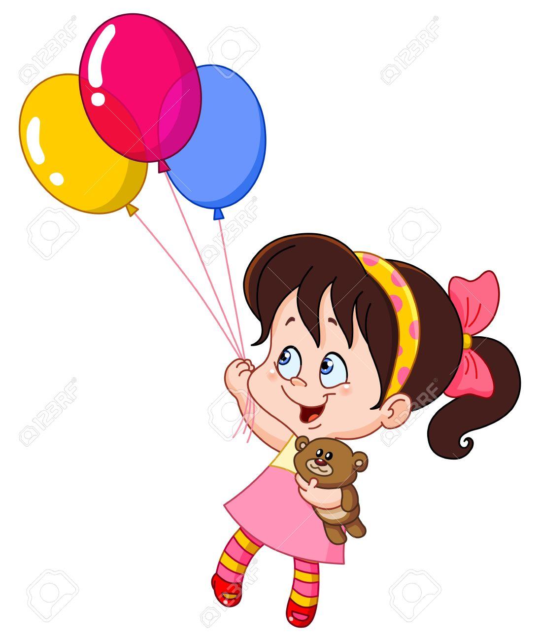 1096x1300 26,229 Balloon Girl Stock Vector Illustration And Royalty Free