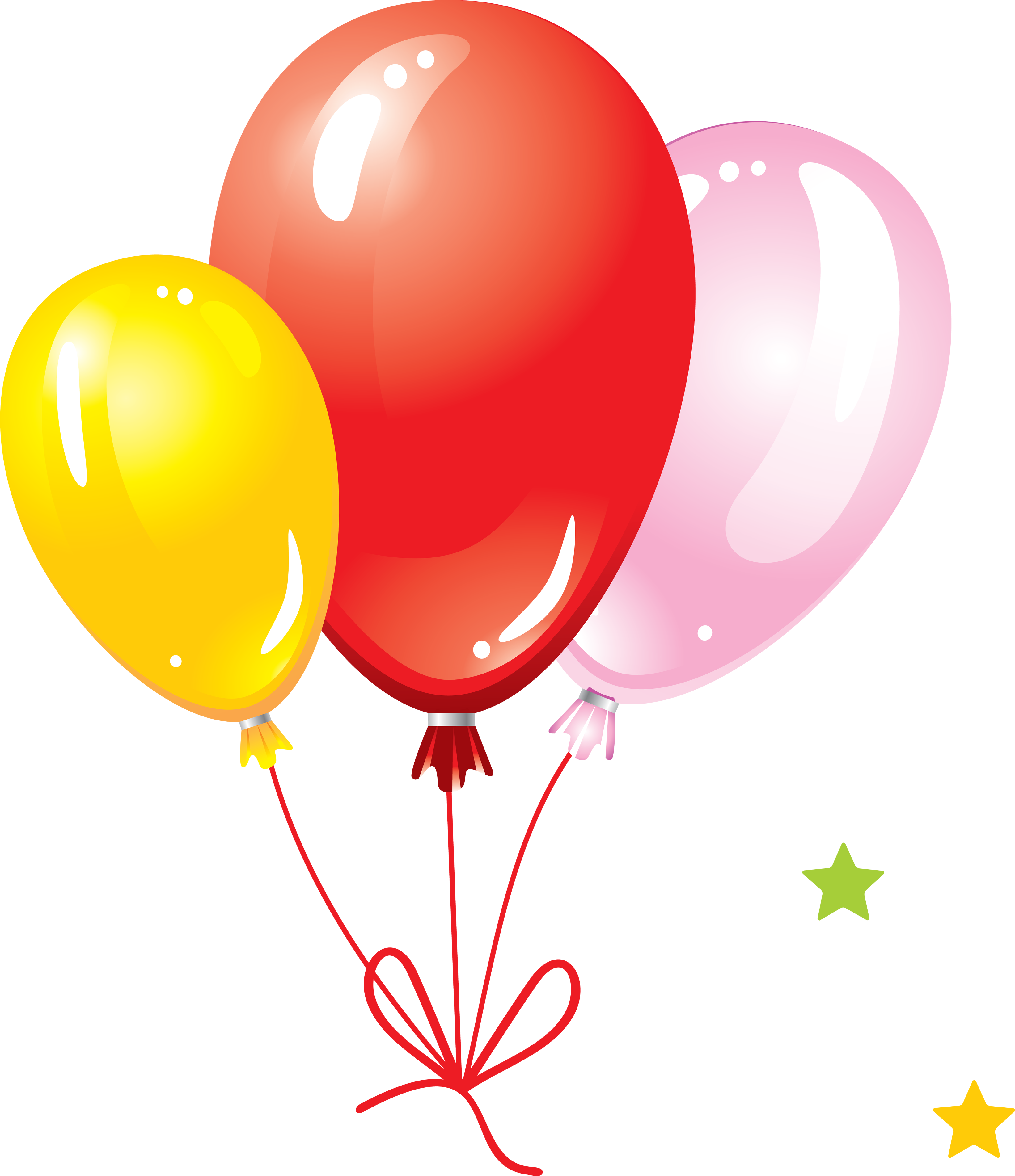 3285x3808 Balloons Seven Isolated Stock Photo By